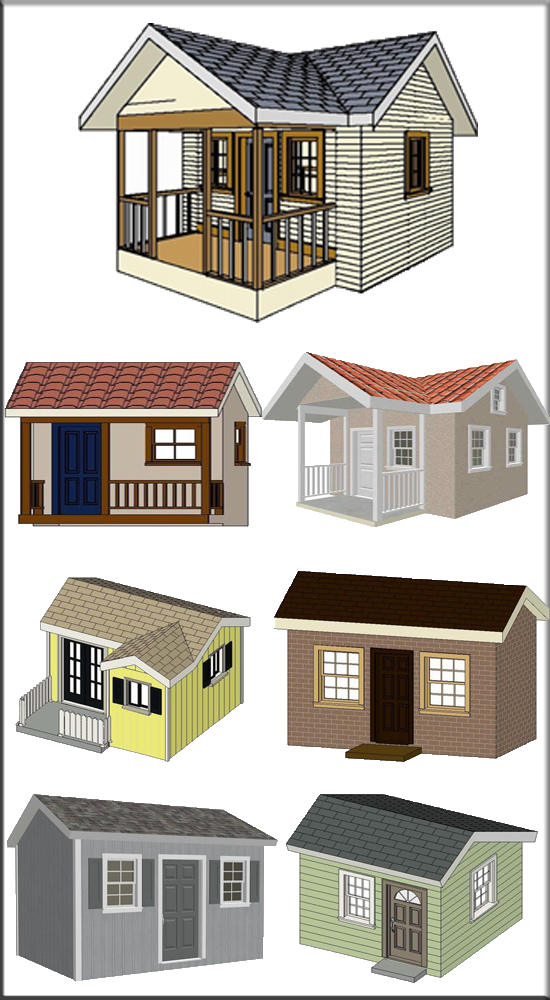 Playhouse rv garage plans and blueprints for Playhouse with garage plans