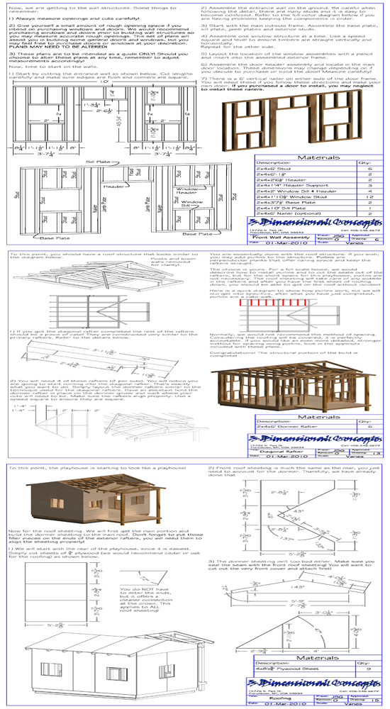 Playhouse blueprints for Free playhouse blueprints